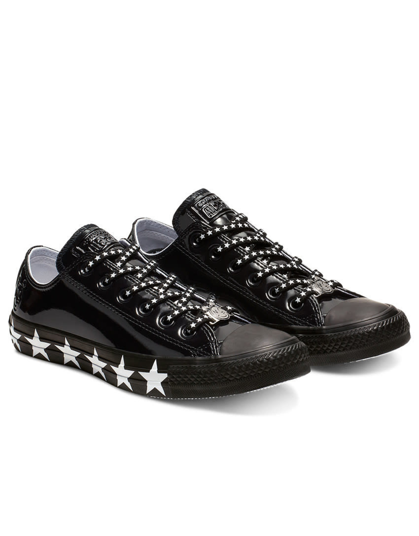 CONVERSE CHUCK TAYLOR AS OX MILEY CYRUS CUIR BLACK/WHITE/BLACK CC13MCB-563720C