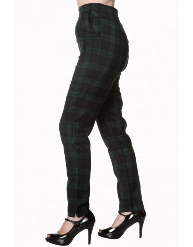 BANNED Tell Me Not High Waist Slim Leg Trouser