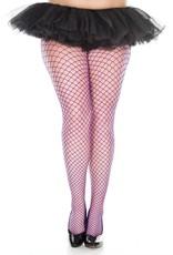 MUSIC LEGS - Purple Plus Size Mini Diamond Net Spandex Pantyhose