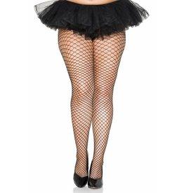 MUSIC LEGS - Plus Size Mini Diamond Net Spandex Pantyhose