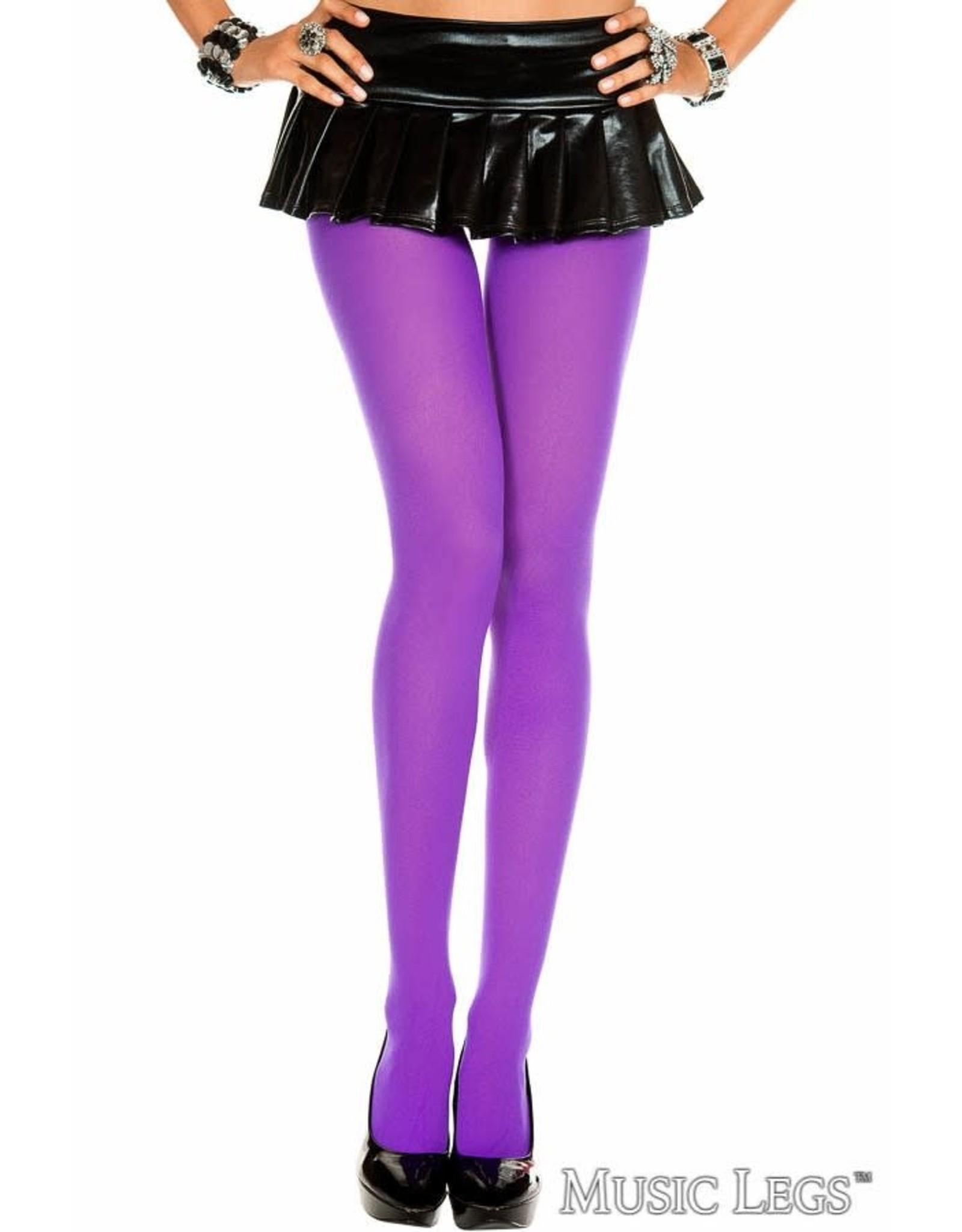 MUSIC LEGS - Purple Plus Size Opaque Tights
