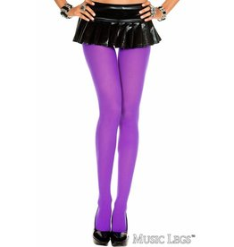 MUSIC LEGS - Purple Plus Size Opaque Tights