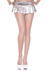 MUSIC LEGS - White Mini Diamond Net Spandex Pantyhose