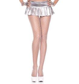 MUSIC LEGS - White Mini Diamond Net Spandex Pantyhose