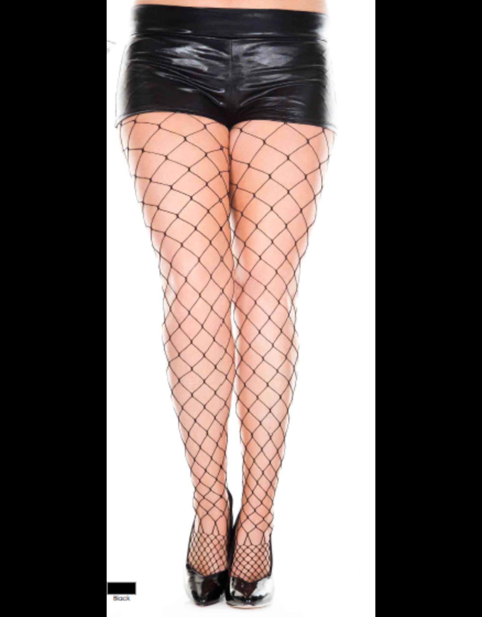 MUSIC LEGS - Plus Size Diamond Net Pantyhose