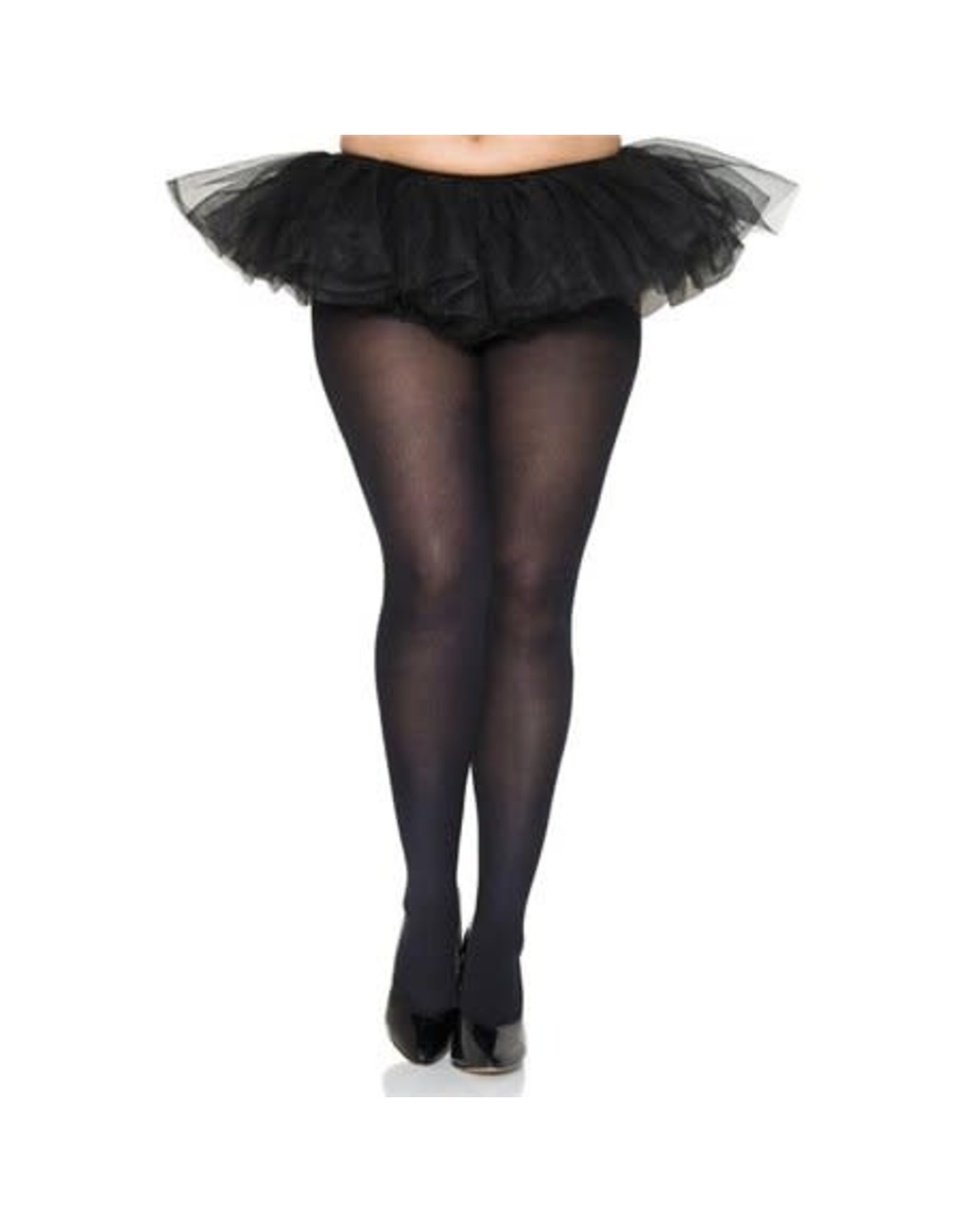 MUSIC LEGS - Plus Size Black Opaque Tights