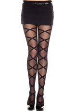 MUSIC LEGS - Criss Cross Leg Wrap Look Pantyhose