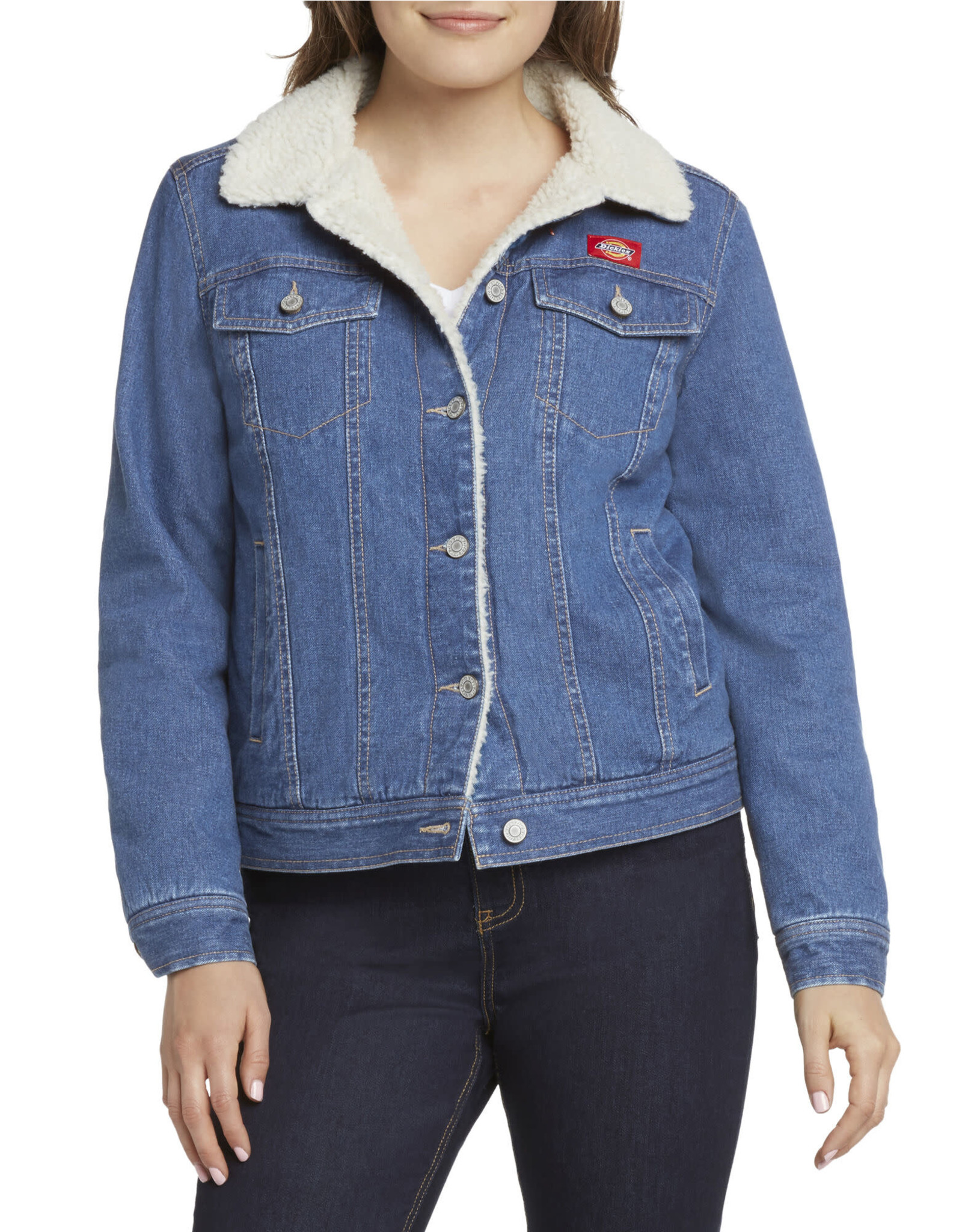 Dickies Girl Sherpa Lined Denim Jacket J4008RD