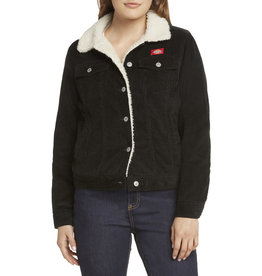 Dickies Girl Sherpa Lined  Black Corduroy Jacket J4008SM