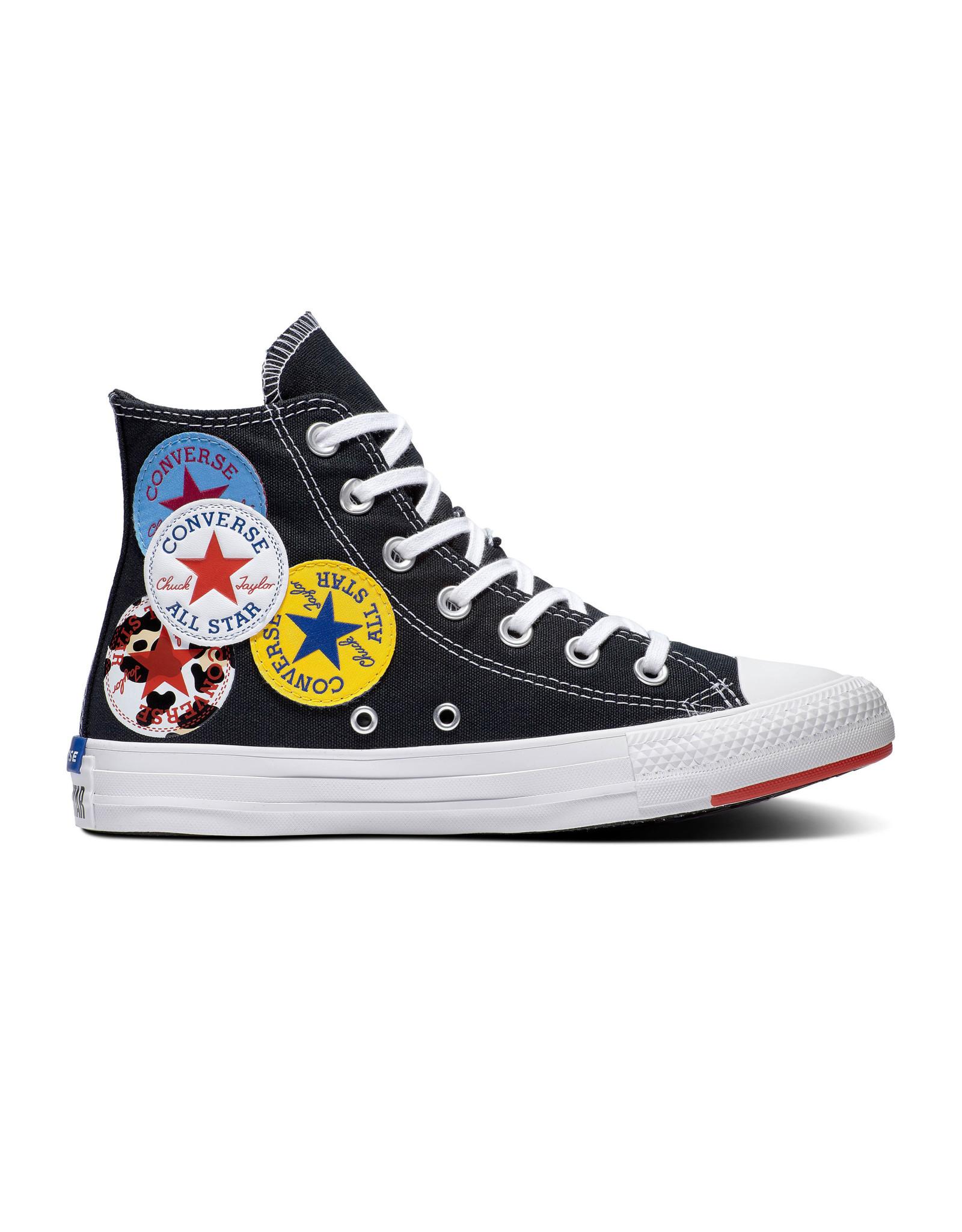 CONVERSE CHUCK TAYLOR ALL STAR  HI BLACK/UNIVERSITY RED/AMARILLO C20LOB-166734C