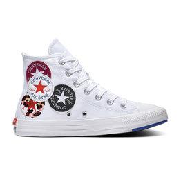 CONVERSE CHUCK TAYLOR ALL STAR  HI WHITE/RUSH BLUE/ROSE MAROON C20LOW-166735C