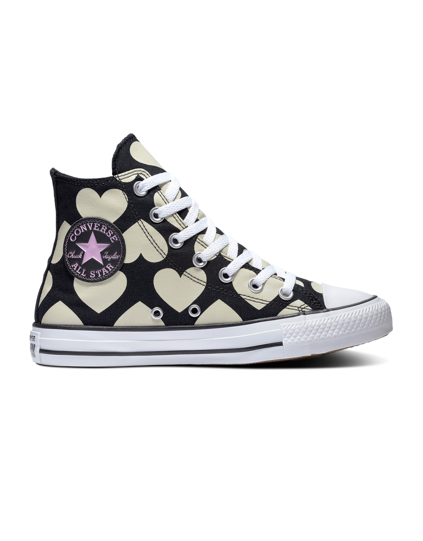 CONVERSE CHUCK TAYLOR ALL STAR HI BLACK/NATURAL IVORY/WHITE C20HEA-567143C