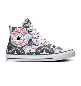 CONVERSE CHUCK TAYLOR ALL STAR  HI BLACK/MULTI/WHITE C20LOG-166985C
