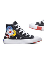 CHUCK TAYLOR ALL STAR  HI BLACK/UNIVERSITY RED/AMARILLO CALOB-366988C