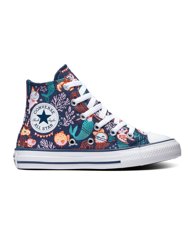 CONVERSE CHUCK TAYLOR ALL STAR  HI NAVY/RAPID TEAL/WHITE CAMER-667200C