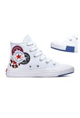 CHUCK TAYLOR ALL STAR  HI WHITE/RUSH BLUE/ROSE MAROON CALOW-366989C