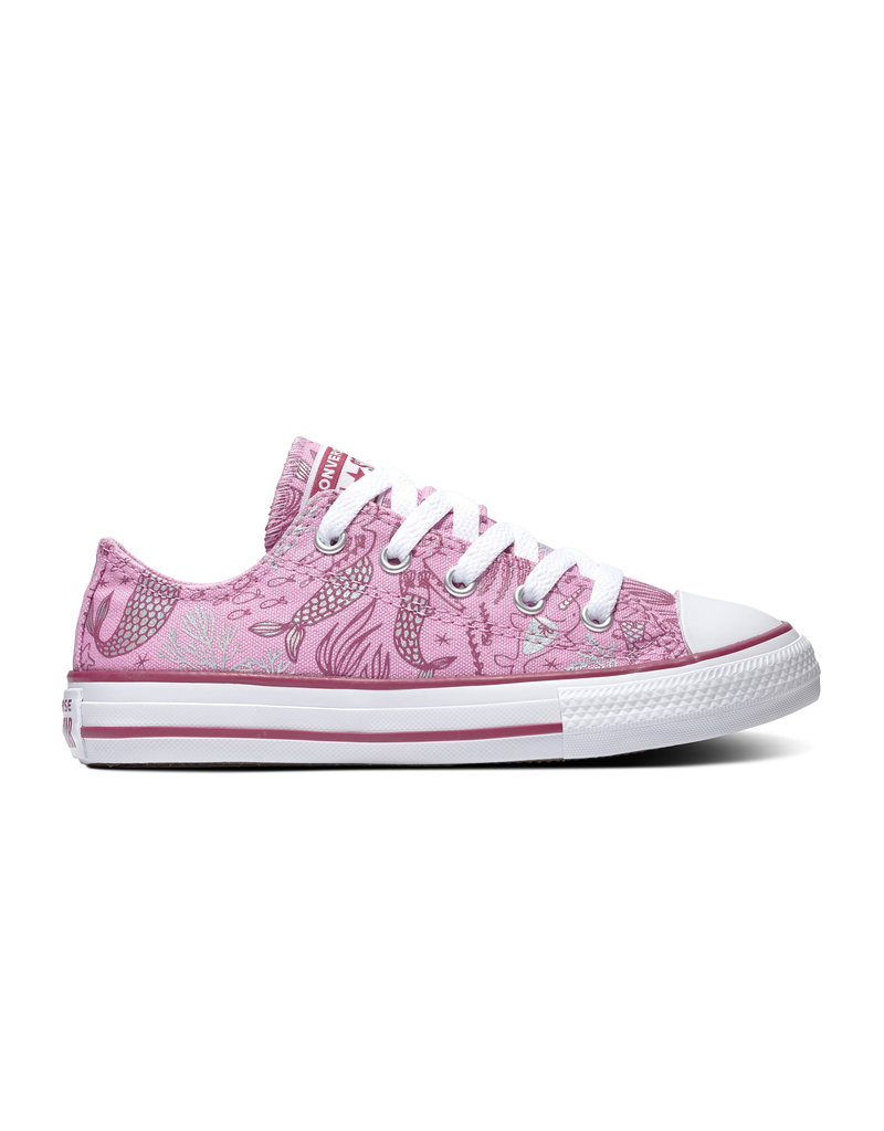 CONVERSE CHUCK TAYLOR ALL STAR  OX PEONY PINK/ROSE MAROON/WHITE CASIR-667204C