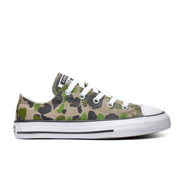 CONVERSE CHUCK TAYLOR ALL STAR  OX BLACK/KHAKI/WHITE CAMO-367190C