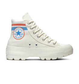 CONVERSE CHUCK TAYLOR ALL STAR  LUGGED HI EGRET/VERMILION RED/COAST C094W-567160C