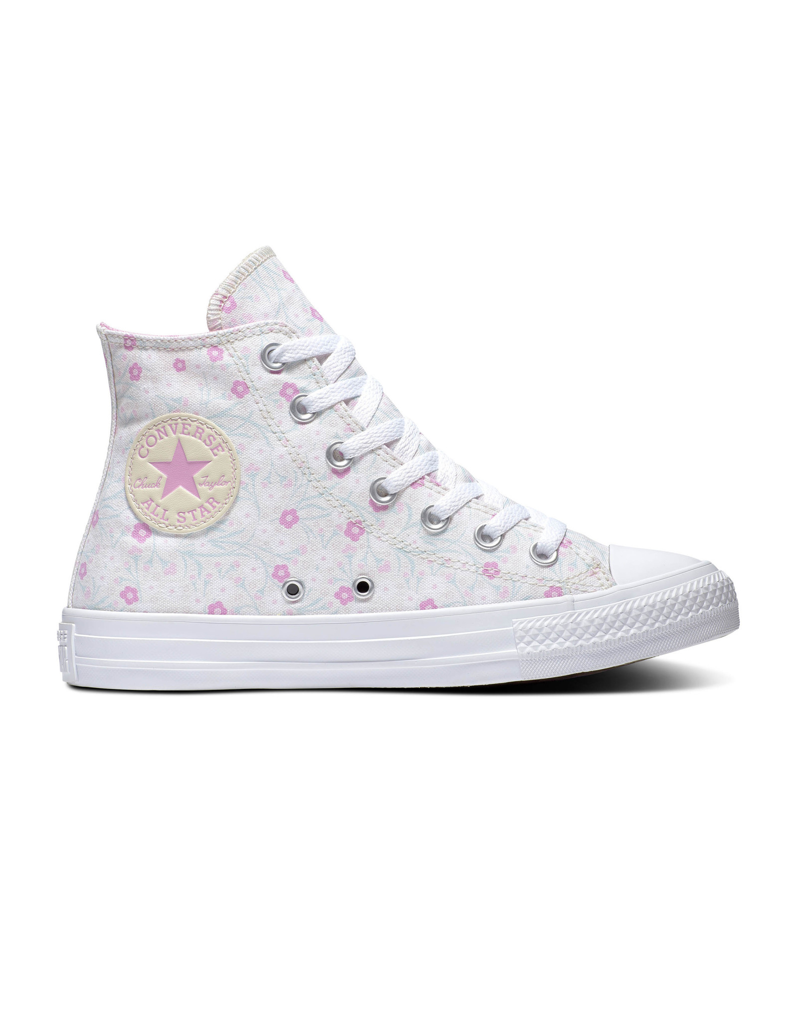 CONVERSE CHUCK TAYLOR ALL STAR  HI WHITE/PEONY PINK/OCEAN MINT C20FLO-567032C