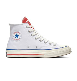 CONVERSE CHUCK 70 HI WHITE/UNIVERSITY RED/EGRET C070WU-166826C