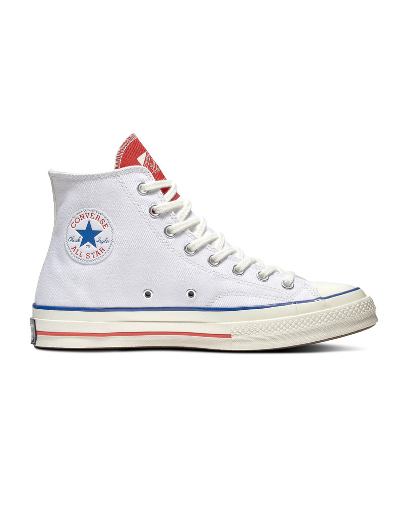 CHUCK 70 HI WHITE/UNIVERSITY RED/EGRET C070WU-166826C