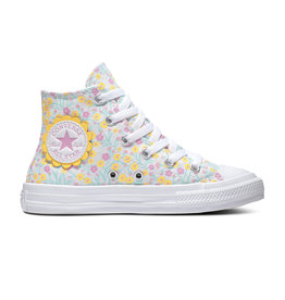CONVERSE CHUCK TAYLOR ALL STAR  HI WHITE/TOPAZ GOLD/PEONY PINK CATOF-666875C
