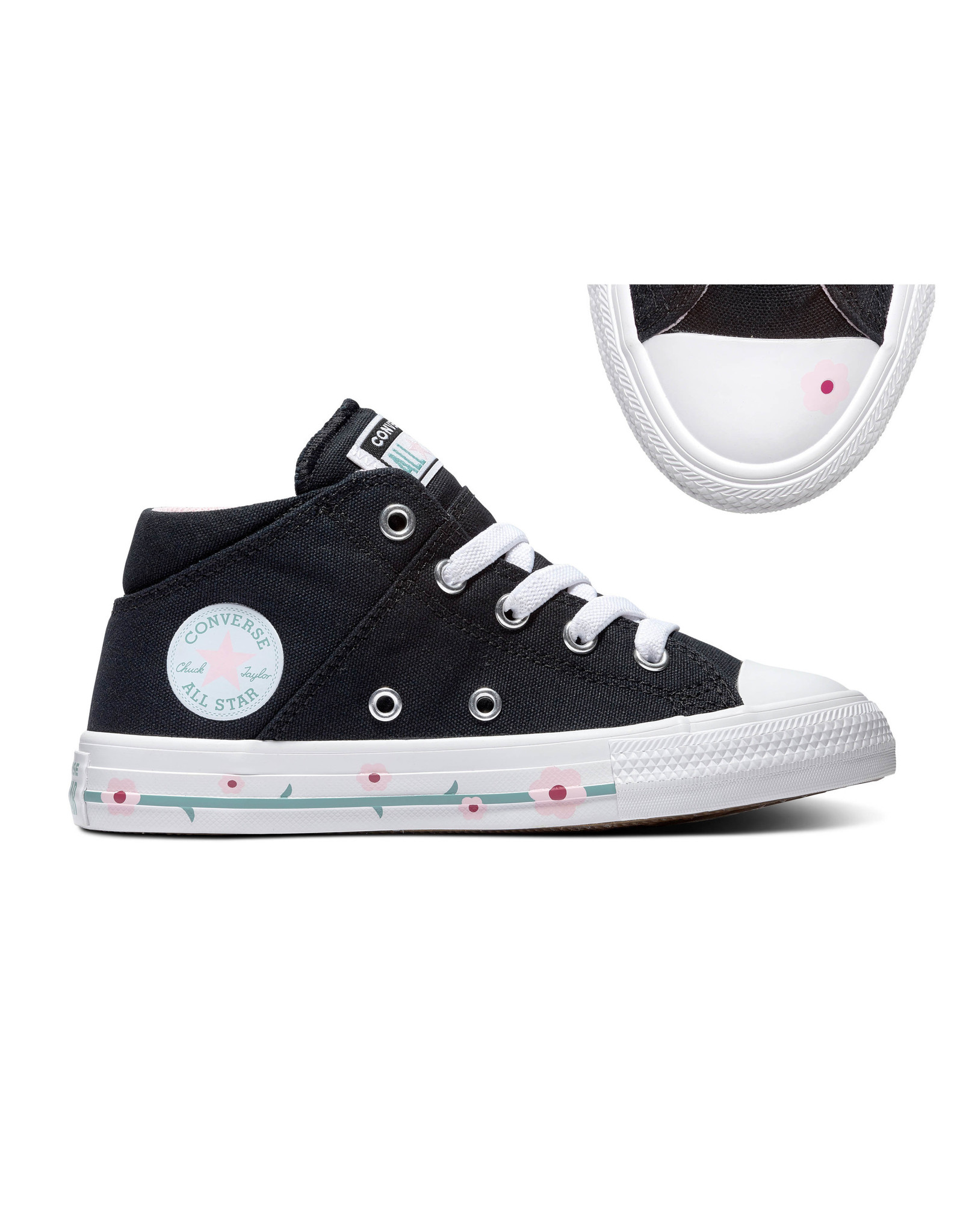 CONVERSE CHUCK TAYLOR ALL STAR  MADISON MID BLACK/CHERRY BLOSSOM CAMAB-666917C