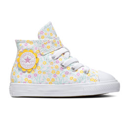 CONVERSE CHUCK TAYLOR ALL STAR  1V HI WHITE/TOPAZ GOLD/PEONY PINK CLVFW-766878C
