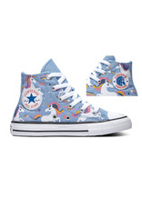 CONVERSE CHUCK TAYLOR ALL STAR HI LIGHT BLUE/BLACK/WHITE CZUNI-665472C