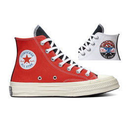 CONVERSE CHUCK 70 HI WHITE/UNIVERSITY RED C070LR-166747C