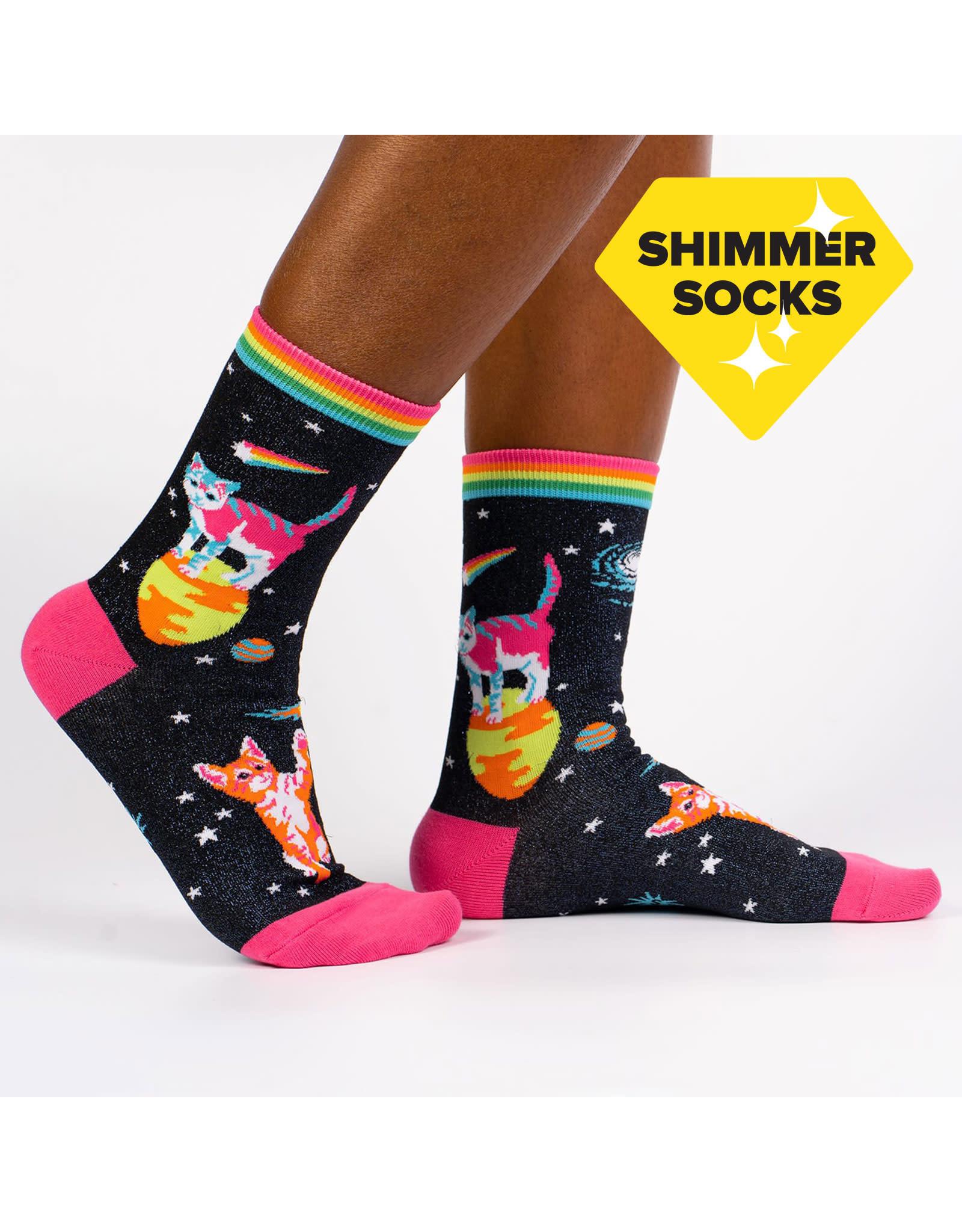 SOCK IT TO ME - Women's Space Cats Crew Socks