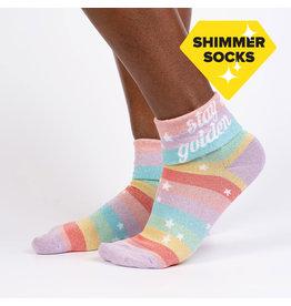 SOCK IT TO ME - Women's Quarter-Turn Stay Golden Crew Socks