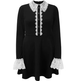 KILLSTAR - Blessed Be Shift Black Collar Dress
