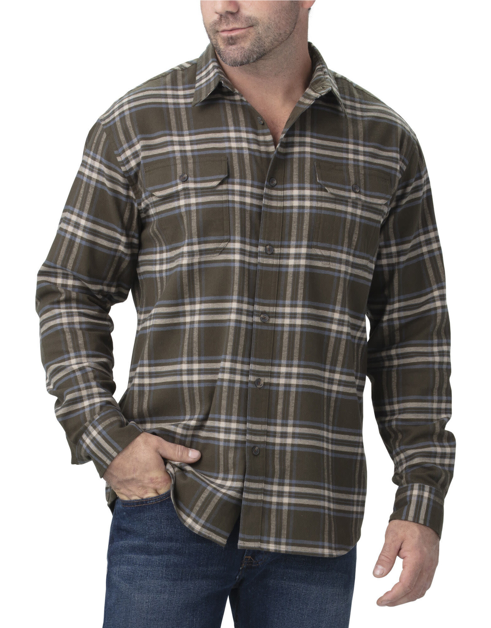 DICKIES Dickies FLEX Long Sleeve Flannel Shirt WL650