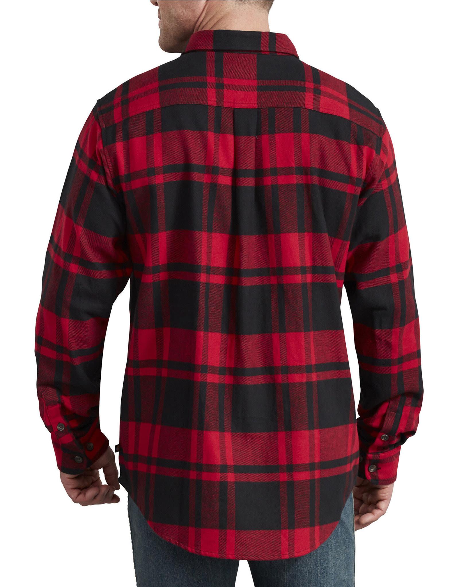 DICKIES Dickies Heavyweight Long Sleeve Flannel Shirt WL652