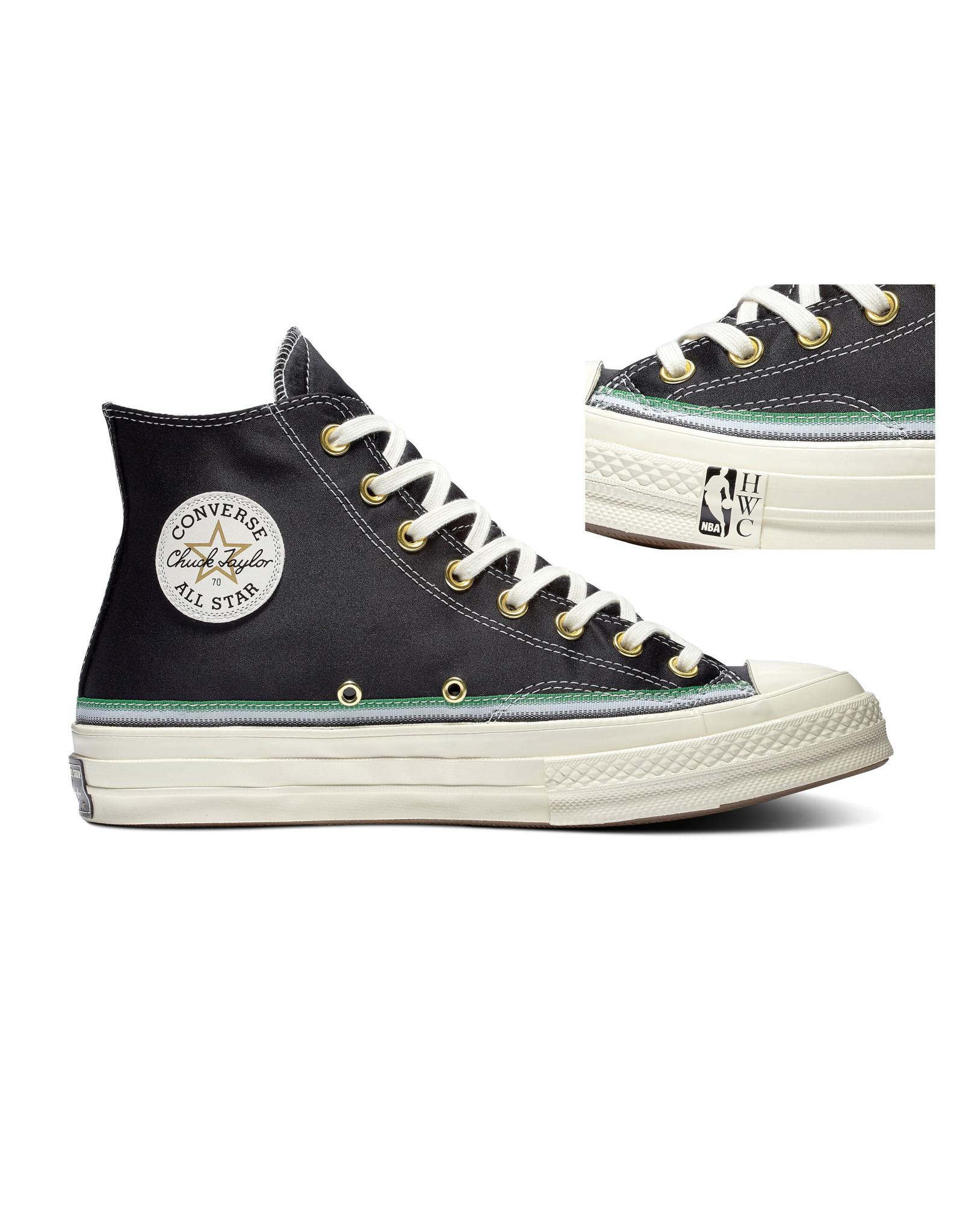 CONVERSE CHUCK 70 HI BLACK/GREEN/EGRET C070B-167057C