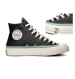 CHUCK 70 HI BLACK/GREEN/EGRET C070B-167057C