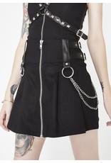 KILLSTAR - Nancy Pleated Mini Skirt Black