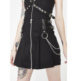 KILLSTAR - Nancy Pleated Mini Skirt Black