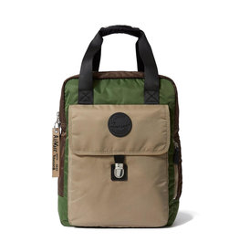 DR. MARTENS - Large Flight Brown + Bronze + Green Sand Nylon Backpack