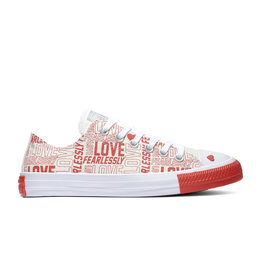CONVERSE CHUCK TAYLOR ALL STAR  OX EGRET/UNIVERSITY RED/WHITE C14LOF-567311C