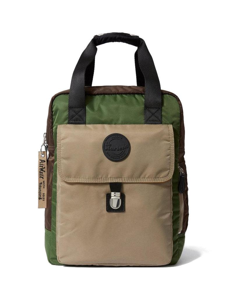 DR. MARTENS - Large Flight Brown + Bronze + Green Sand Nylon Backpack