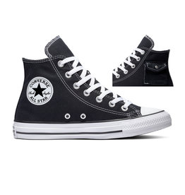 CHUCK TAYLOR ALL STAR  POCKET HI BLACK/WHITE/BLACK C20POB-167044C