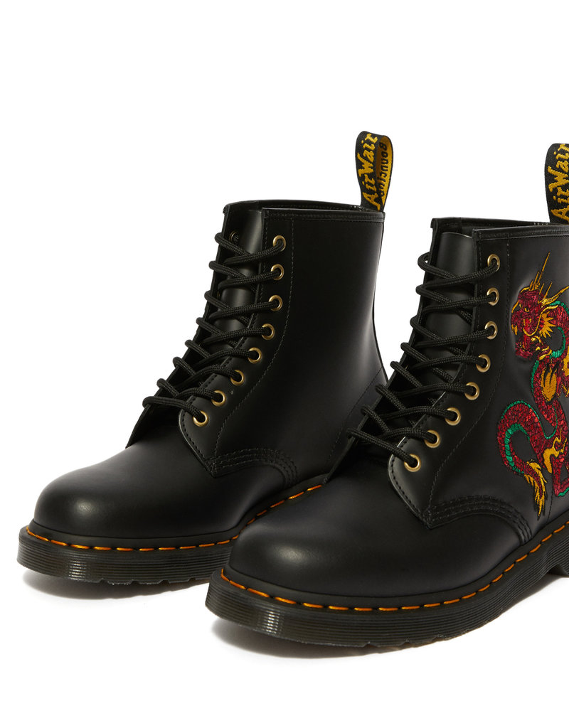 DR. MARTENS 1460 EMBROIDERY BLACK SMOOTH 815DRA-R25442001