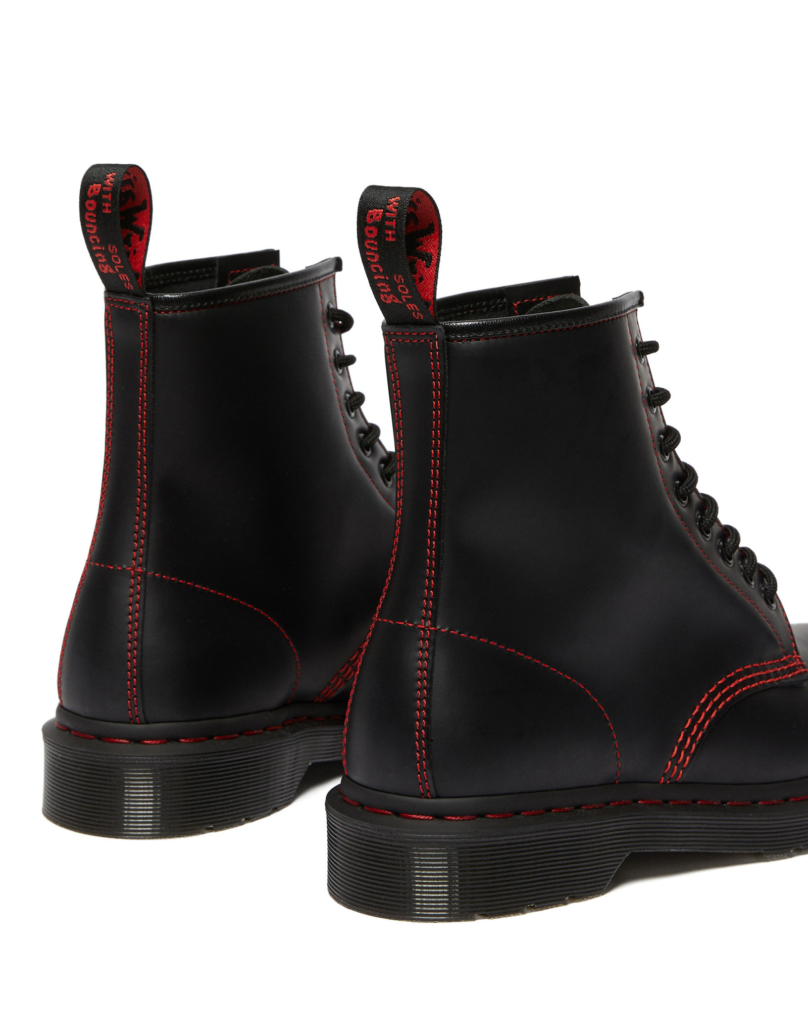 DR. MARTENS 1460 RED STITCH BLACK SMOOTH 815BRS-R25828001