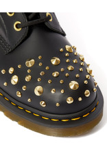 DR. MARTENS 1460 MIDAS GOLD STUDS BLACK SMOOTH 815STG-R25660001