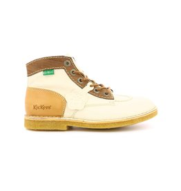 KICKERS KICK LEGEND BLANC MARRON BEIGE K2080BEM 660249-50+33