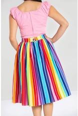 HELL BUNNY - Over The Rainbow 50's Skirt
