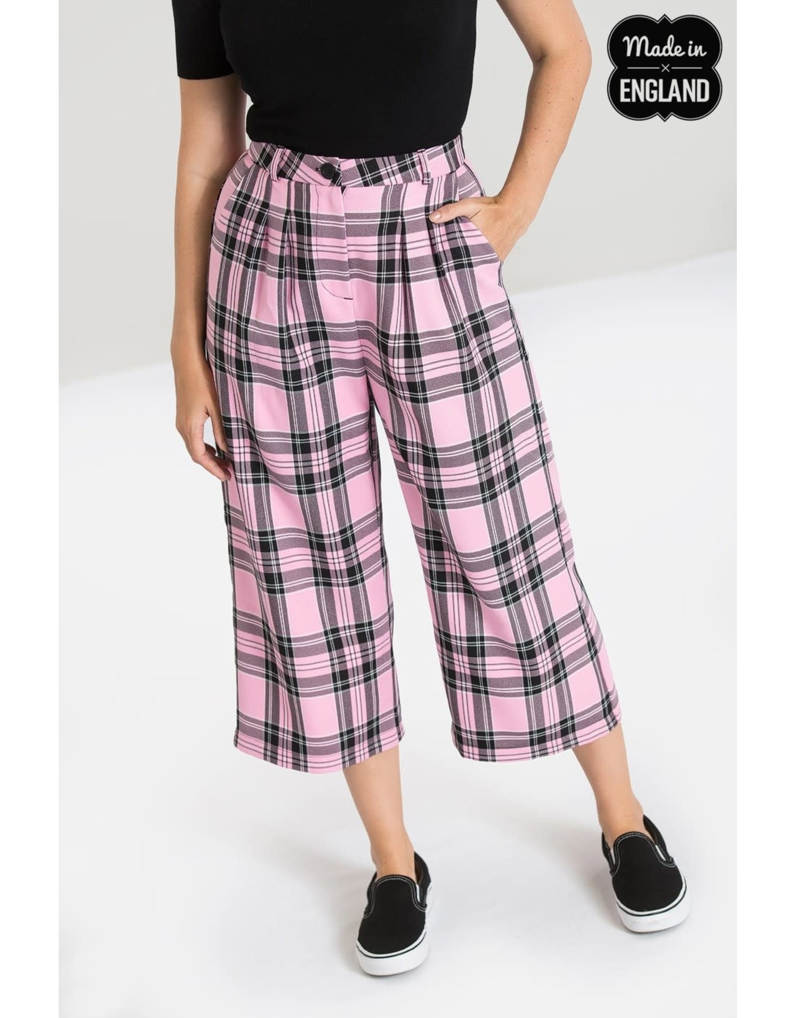 HELL BUNNY - Pink Riot Culottes